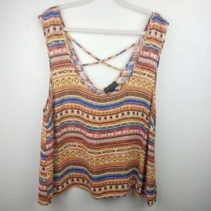 FOREVER 21 PLUS Aztec Tank top
